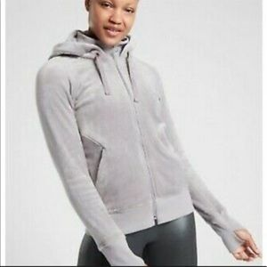 Athleta Triumph Gray Hoodie in Double Cozy Karma, Size S